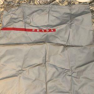 Prada Vinyl Plastic Drawstring Storage Bag